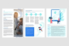 Which included new layouts within the template and new illustrations created within their existing style.